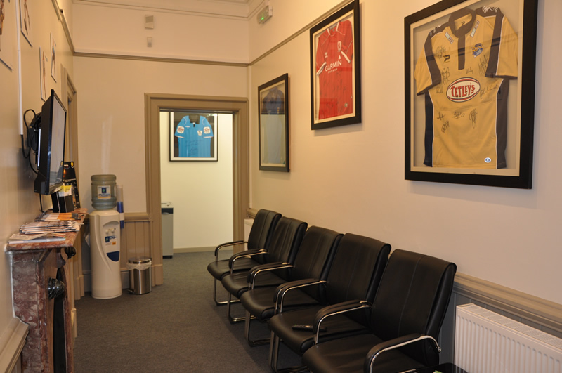 White Rose Clinic York waiting room