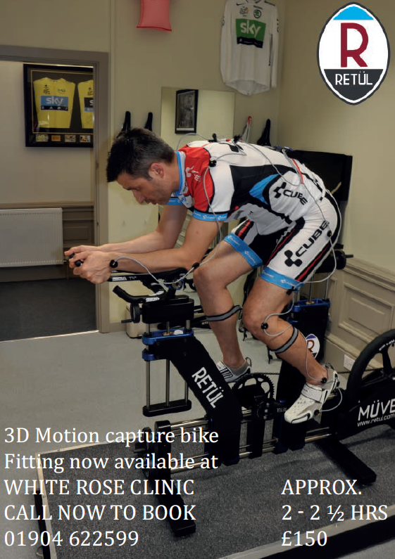 retul bike fit White Rose Clinic York