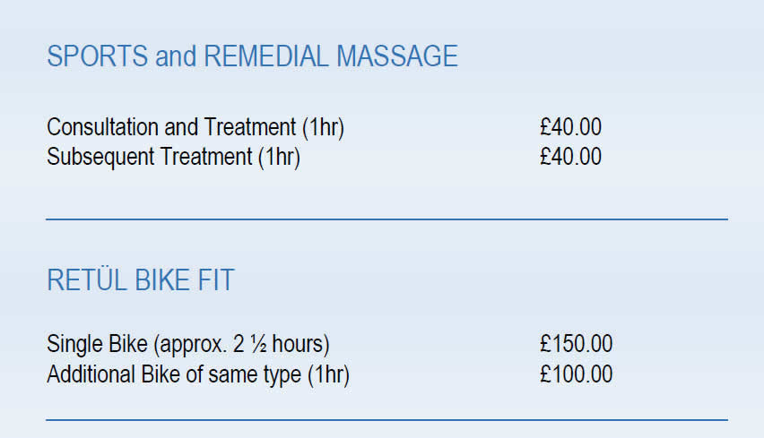 Prices at White Rose Clinic York